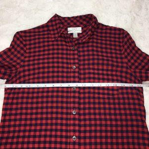 J. Crew Tops - J. Crew Crinkle Boy Shirt in Red Check